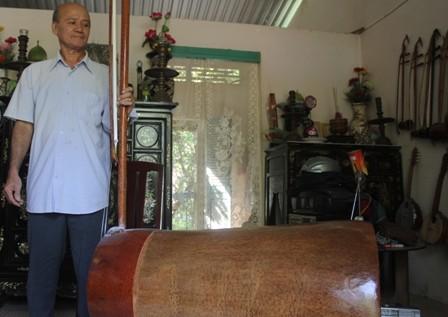 Bộ nhạc cụ bằng gỗ dừa lập kỷ lục Việt Nam - ảnh 1