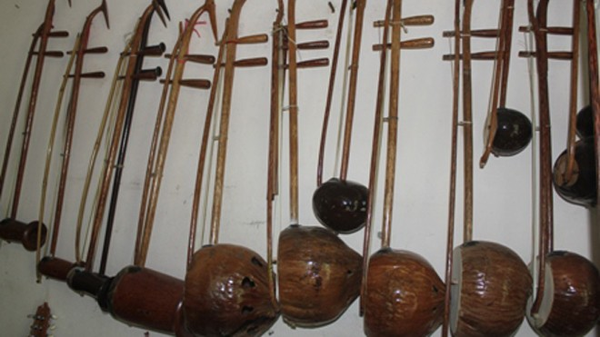 Bộ nhạc cụ bằng gỗ dừa lập kỷ lục Việt Nam - ảnh 2