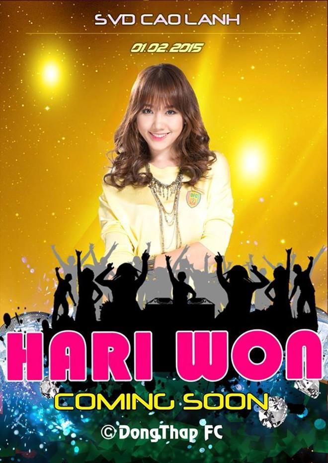 Đội bóng nghèo V.League mời ca sĩ Hari Won đến sân biểu diễn - ảnh 2