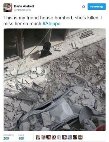 Bé gái 7 tuổi ký sự từ thành phố bom đạn Syria - ảnh 2