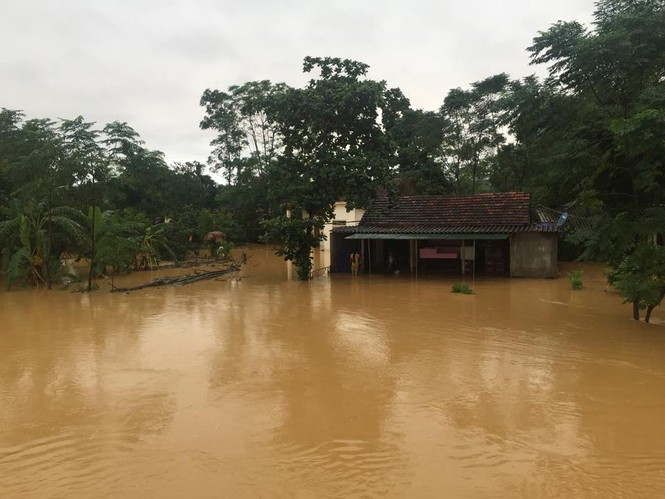 Hàng vạn căn nhà ở Hà Tĩnh chìm trong nước, 2 người tử vong - ảnh 2