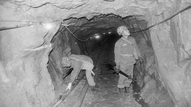 Cận cảnh đường hầm Triều Tiên khiến người Hàn Quốc lo sợ - ảnh 1