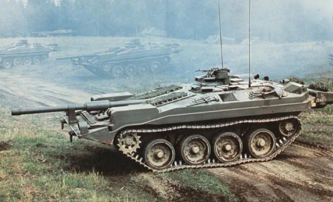 Mục kích xe tăng không tháp pháo kỳ lạ của Thụy Điển - ảnh 4