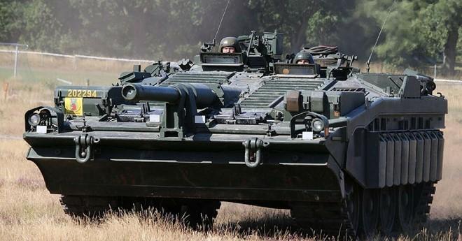 Mục kích xe tăng không tháp pháo kỳ lạ của Thụy Điển - ảnh 9