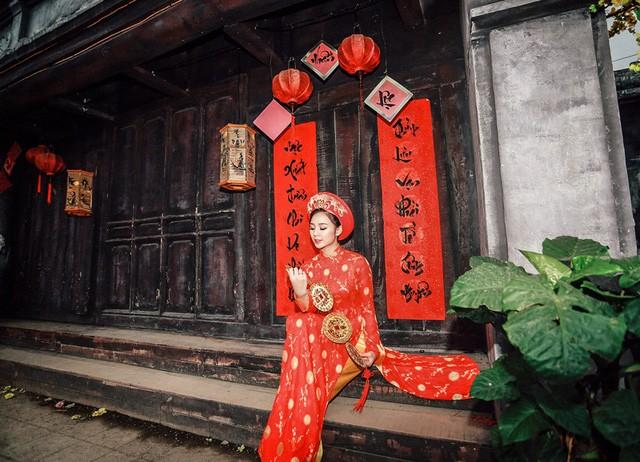 """""""Loa phường"""" Quỳnh Kool đáng yêu trong tà áo dài đón Xuân - ảnh 13"""