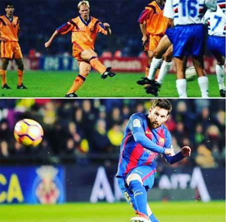 Messi san bằng kỷ lục sút phạt của Ronald Koeman tại Barca - ảnh 1