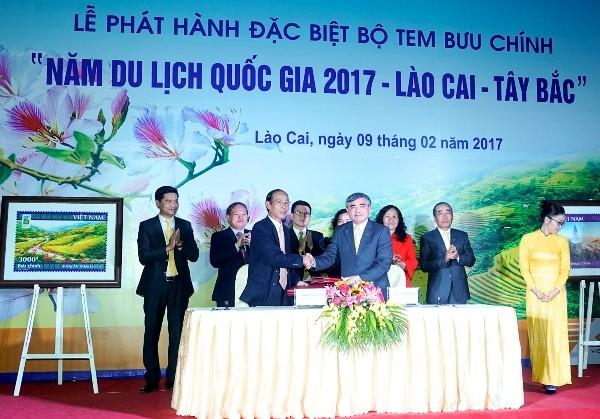 """Phát hành đặc biệt bộ tem bưu chính """"Năm du lịch quốc gia 2017 – Lào Cai – Tây Bắc"""" - ảnh 1"""
