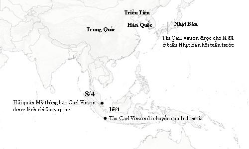 Sự thật về hành trình áp sát Triều Tiên của cụm tàu sân bay Mỹ - ảnh 1