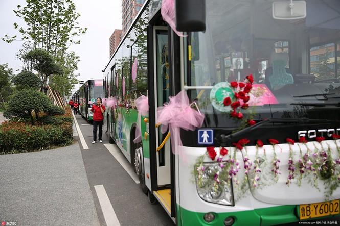 Cô dâu Trung Quốc lái xe buýt đi 'đón rể' - ảnh 4