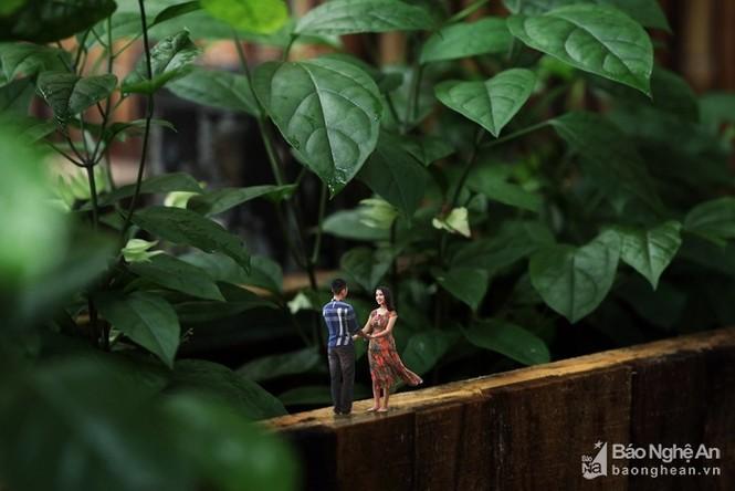 Độc đáo bộ ảnh cưới 'tí hon' của cặp đôi ở Nghệ An - ảnh 4