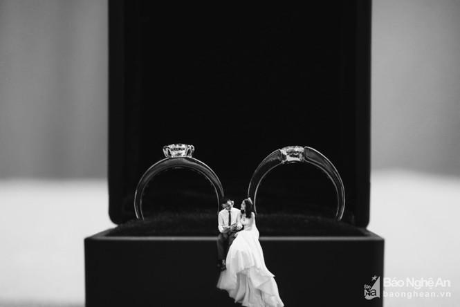Độc đáo bộ ảnh cưới 'tí hon' của cặp đôi ở Nghệ An - ảnh 6