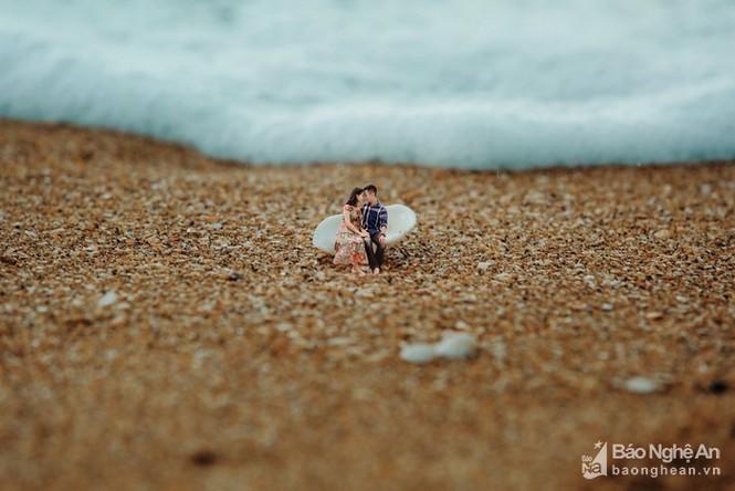 Độc đáo bộ ảnh cưới 'tí hon' của cặp đôi ở Nghệ An - ảnh 7