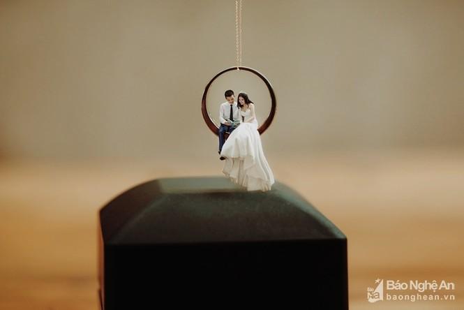 Độc đáo bộ ảnh cưới 'tí hon' của cặp đôi ở Nghệ An - ảnh 8