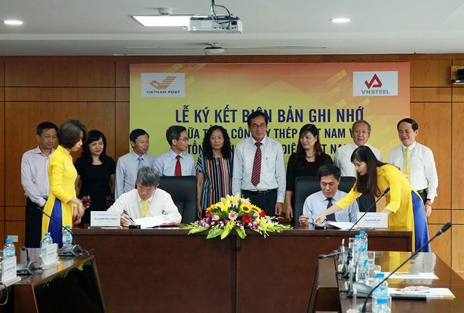 'Ông lớn' thép và bưu điện Việt Nam bắt tay hợp tác - ảnh 1