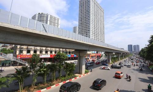 Hà Nội trồng cây cau cảnh dưới gầm đường sắt trên cao - ảnh 4