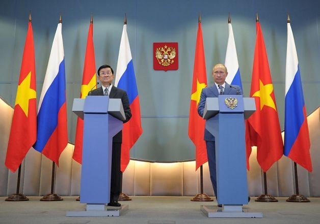 Chủ tịch nước Trương Tấn Sang và tổng thống Vladmir Putin