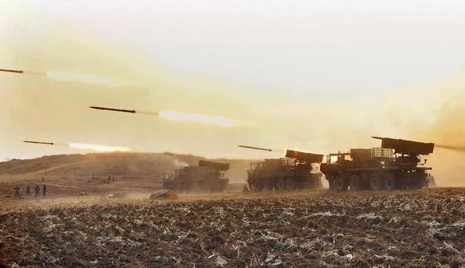 Địa điểm quân đội Triều Tiên tiến hành diễn tập không được KCNA đưa tin