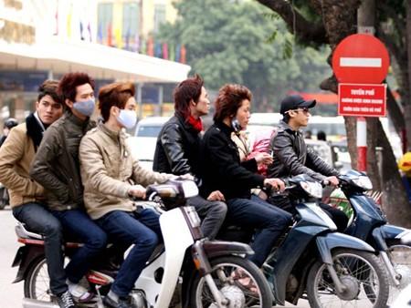 Hình ảnh vi phạm Luật Giao thông này vẫn còn diễn ra nhiều ở các thành phố