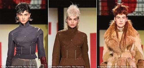 Những kiểu tóc 'nổi loạn' trên sàn catwalk Paris - ảnh 2