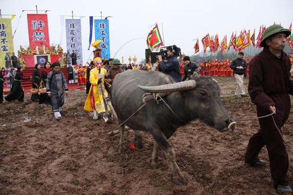 Chủ tịch nước Trương Tấn Sang dự hội Tịch điền - ảnh 4