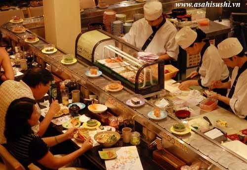 Không gian đậm chất Nhật sang trọng và thân thiện của nhà hàng Asahi Sushi