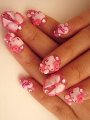 Ngộ nghĩnh với nail 'Hello Kitty' - ảnh 12