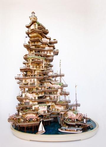 Những lâu đài 'khủng' trên cây bonsai - ảnh 7