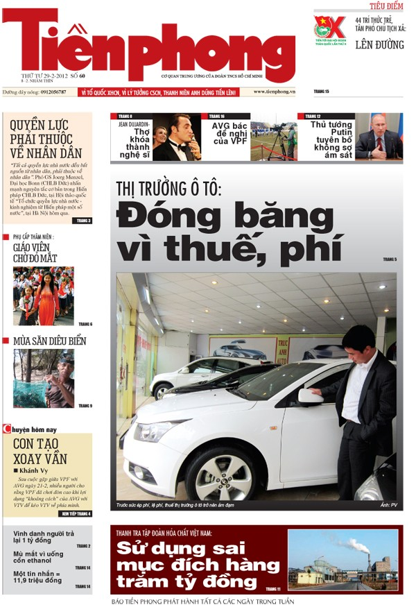 Tin bài hấp dẫn trên Tiền Phong nhật báo 29-2 - ảnh 1