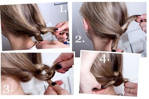 Tự làm kiểu tóc thắt nút dự tiệc - ảnh 5