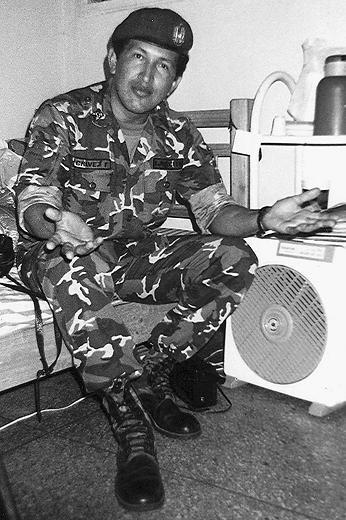 Ảnh chụp ông Hugo Chavez năm 1992