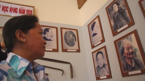 Hình ảnh những người đã tham gia trận quyết tử với người Pháp năm 1928 được lưu giữ tại khu di tích Nọc Nạng. Ảnh: Chí Quốc