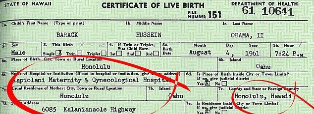 Tên bệnh viện và địa điểm nơi Tổng thống Obama chào đời