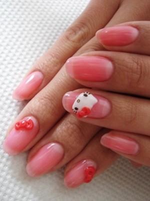 Ngộ nghĩnh với nail 'Hello Kitty' - ảnh 6
