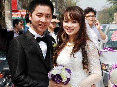 Triệu phú internet Nguyễn Văn Dũng và vợ trong ngày cưới