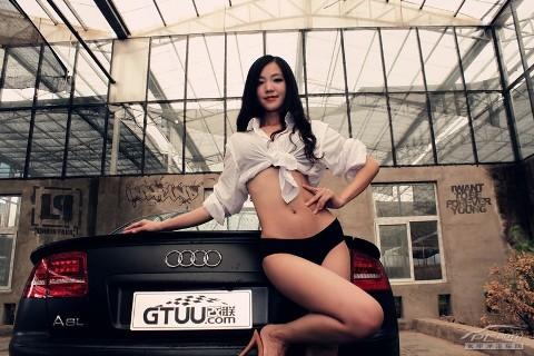 Mỹ nữ quyến rũ bên Audi A8L - ảnh 2