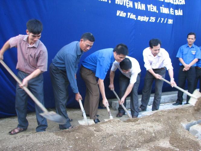 Thanh niên Hà Nội khởi công xây nhà cho thanh niên nghèo tỉnh Yên Bái