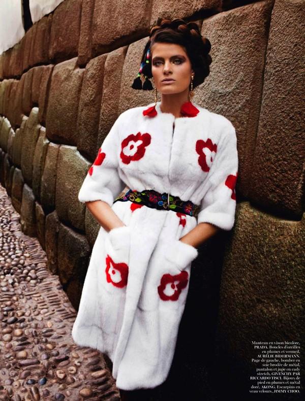 Bộ đôi siêu mẫu nóng bỏng trên Vogue Pháp - ảnh 6