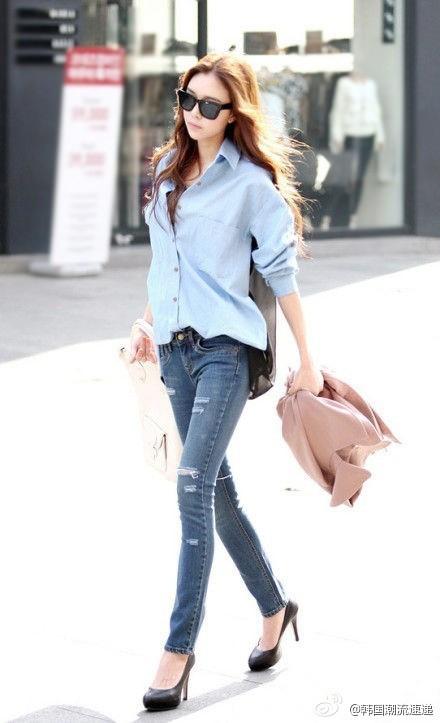 Cuối tuần xuống phố cực chất với quần jeans - ảnh 1