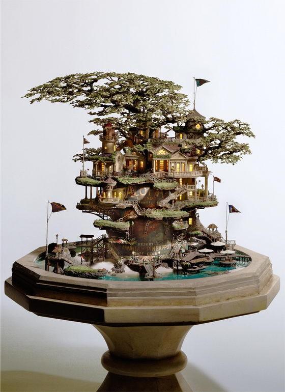 Những lâu đài 'khủng' trên cây bonsai - ảnh 3