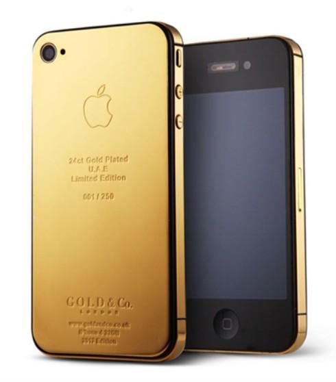 iPhone 4S mạ vàng của Gold & Co