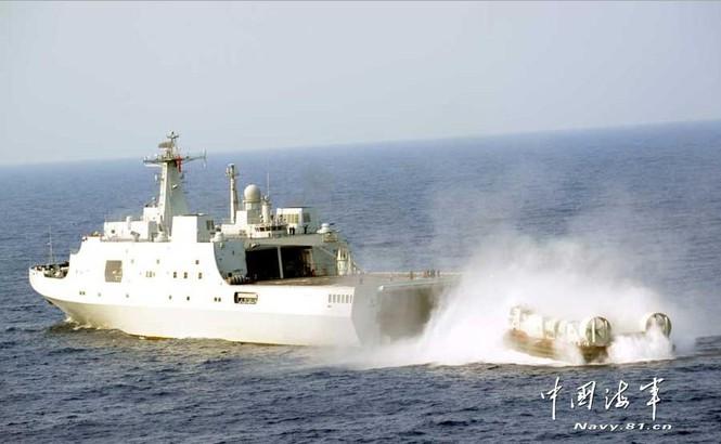 Bốn tàu chiến cùng bốn chiếc phi cơ và một chiếc thủy phi cơ tham gia tập trận trên Biển Đông