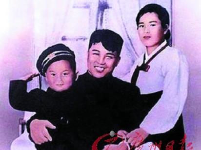 Kim Nhật Thành cùng người vợ đầu tiên và con trai
