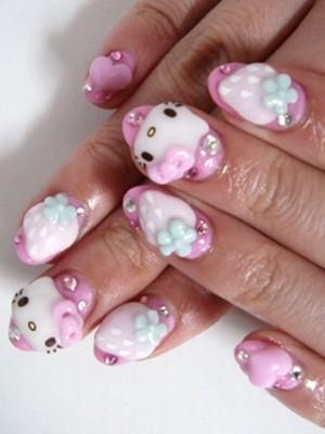 Ngộ nghĩnh với nail 'Hello Kitty' - ảnh 4
