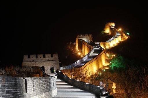 Vạn Lý Trường Thành (Trung Quốc) trong giờ Trái Đất