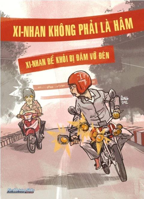 Xi-nhan mỗi khi chuyển hướng, sang đường