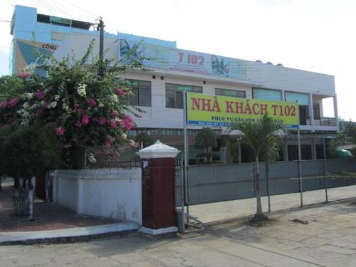Nhà khách T102, nơi được cho là ông Lê Văn Vương và bà Hà Cẩm Hà hẹn hò nhau