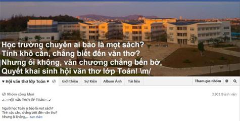 Fanpage về thơ văn của lớp Đạt có gần 4.000 thành viên