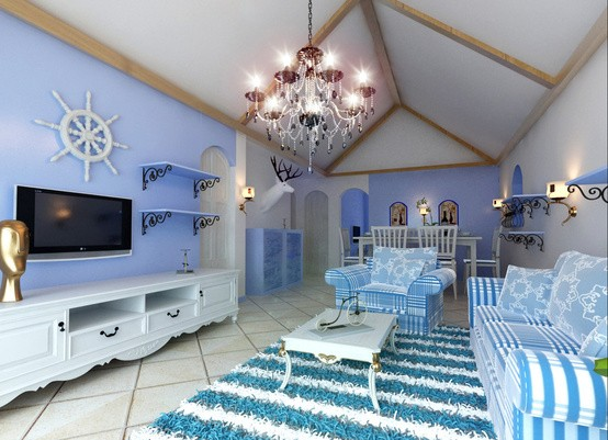 Nội thất xanh dương cho nhà mát lạnh - ảnh 5