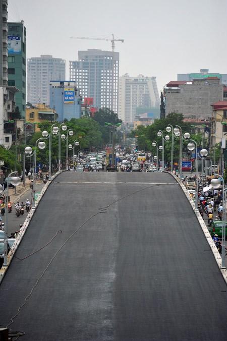 'Mục sở thị' cầu vượt lắp ghép đầu tiên ở thủ đô - ảnh 6