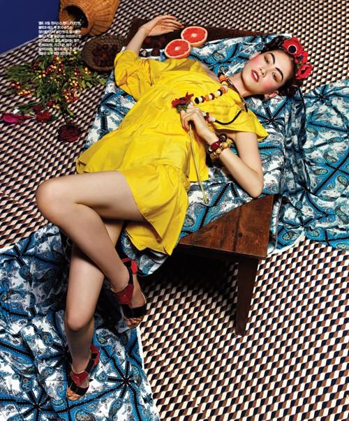 Sắc đẹp châu Á 'ngọt lịm' trên Singles Hàn Quốc - ảnh 8